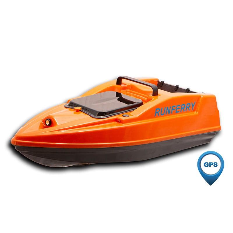 Купить карповый кораблик Runferry Solo 2 оранжевый с GPS и автопилотом