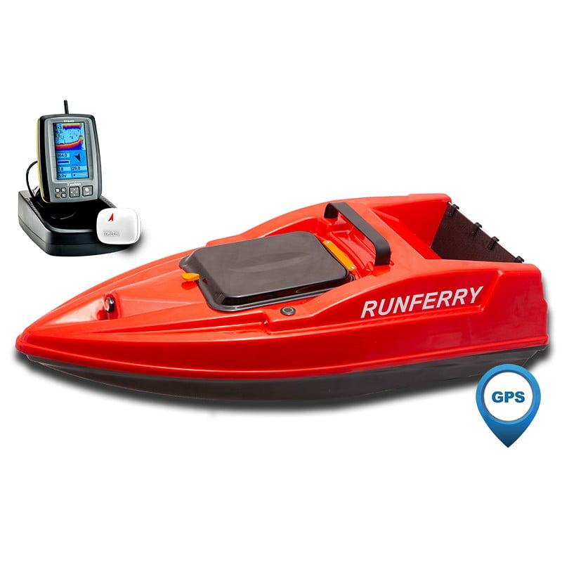 Купить кораблик Runferry Solo 2 красный с GPS-автопилотом и эхолотом Toslon TF500