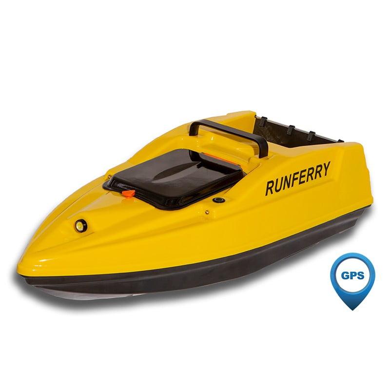 купить карповый кораблик Runferry Solo 2 желтый с GPS и автопилотом
