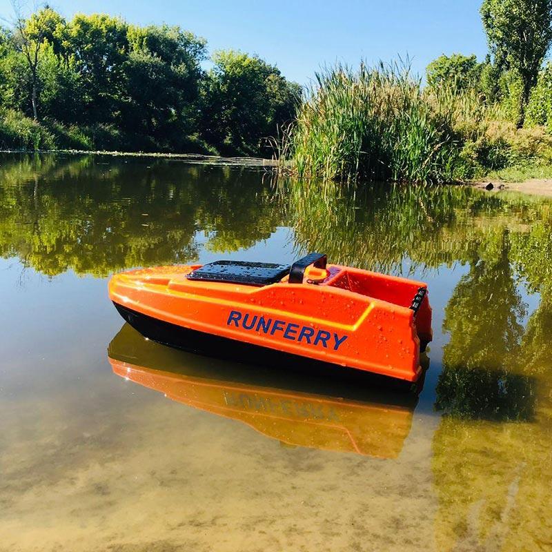 Фото карповый кораблик Solo Mini c GPS автопилотом и глубиномером оранжевый