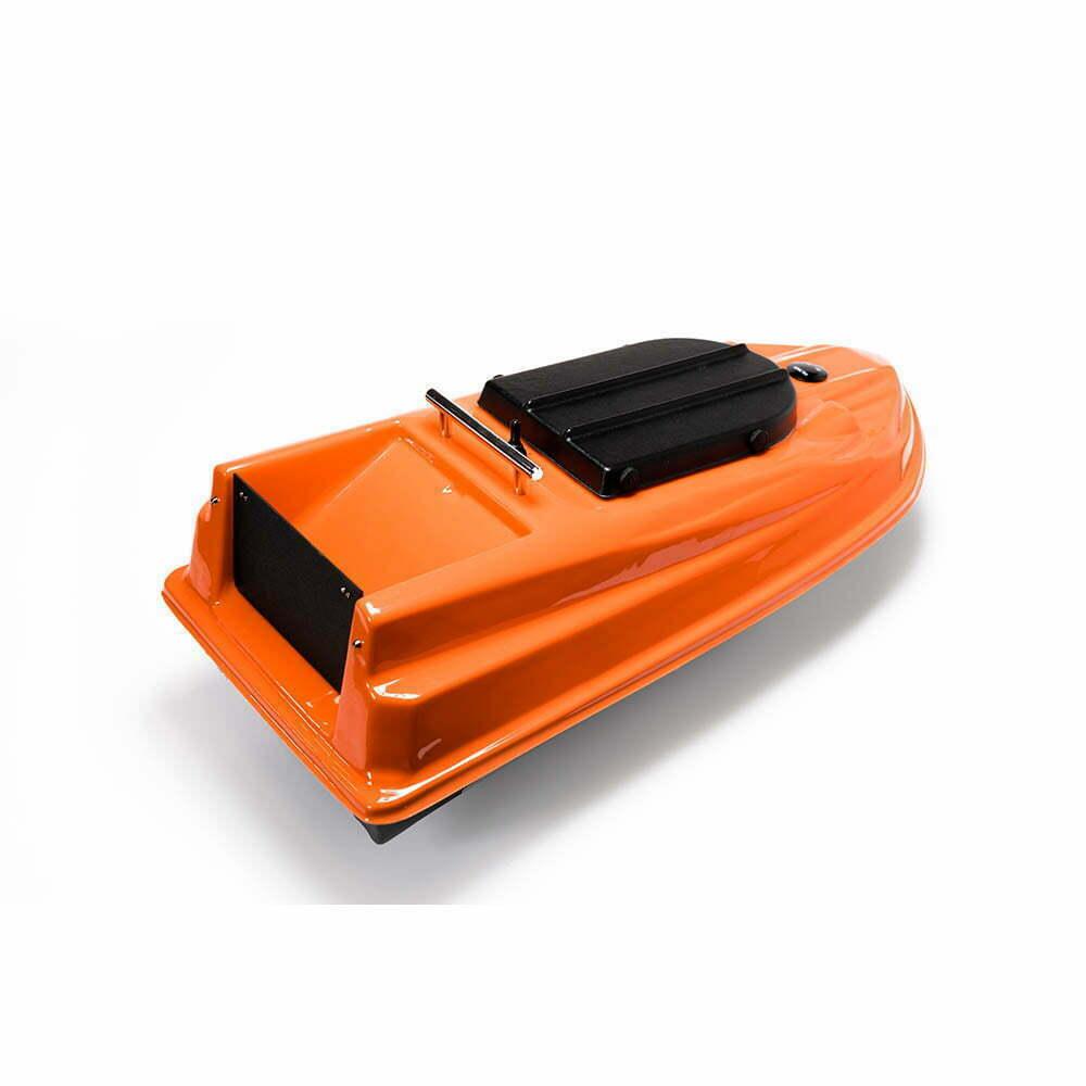 Прикормочный кораблик для рыбалки Тирг PRO оранжевый