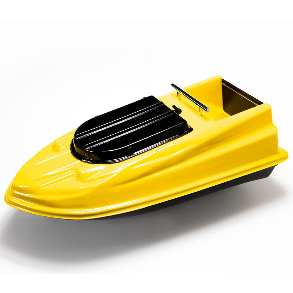 Фото кораблика для рыбалки и прикормки Тигр PRO желтый