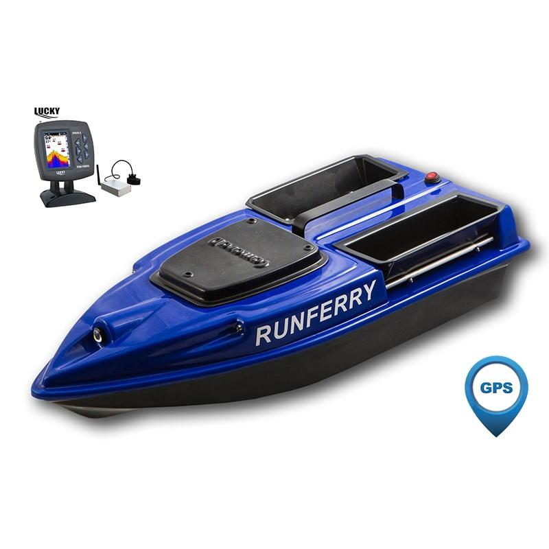 Купить кораблик Camarad 3 синий с GPS-автопилотом и эхолотом Lucky 918