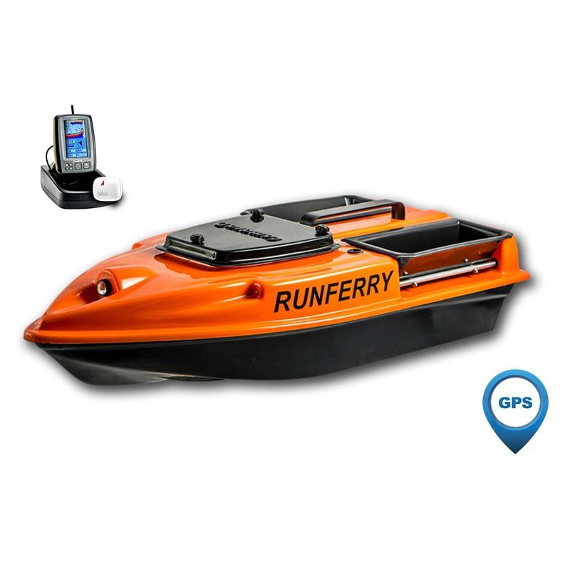 Купить кораблик Camarad 3 оранжевый с GPS-автопилотом и эхолотом Toslon TF500