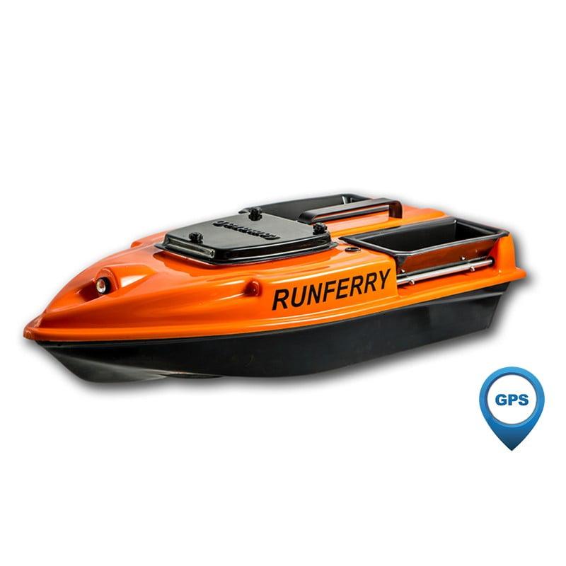 Купить прикормочный кораблик Камарад (Camarad) 3 оранжевый с GPS-автопилотом