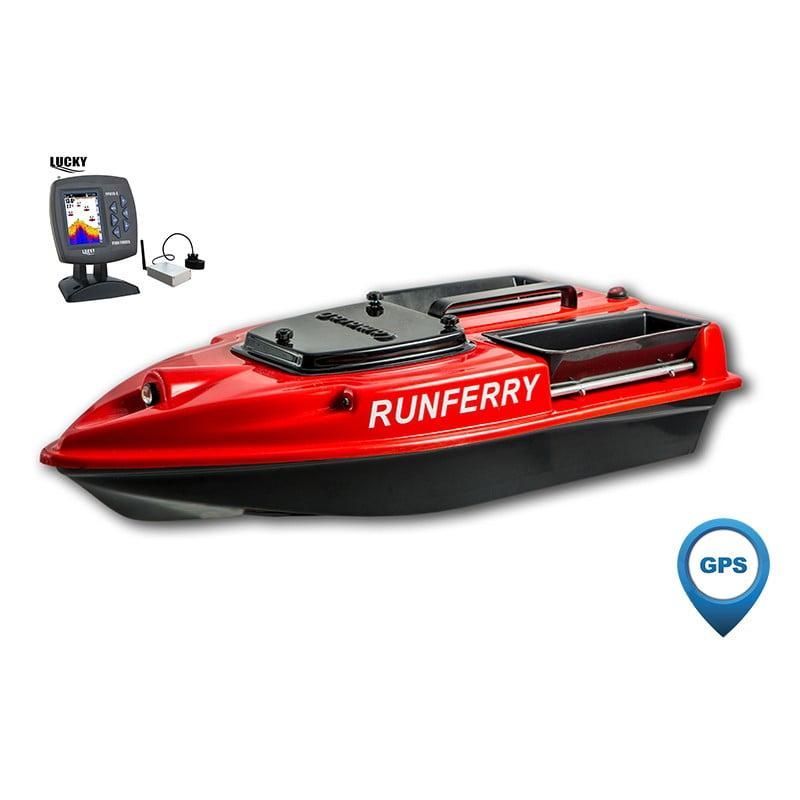 Купить кораблик Camarad 3 красный с GPS-автопилотом и эхолотом Lucky 918