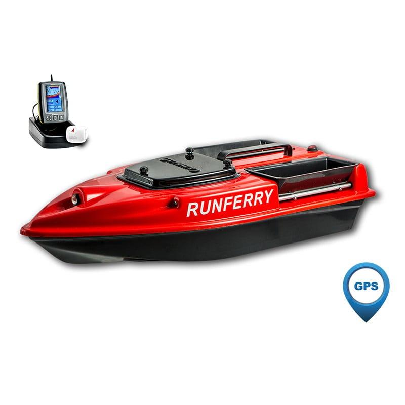 Купить кораблик Camarad 3 красный с GPS-автопилотом и эхолотом Toslon TF500