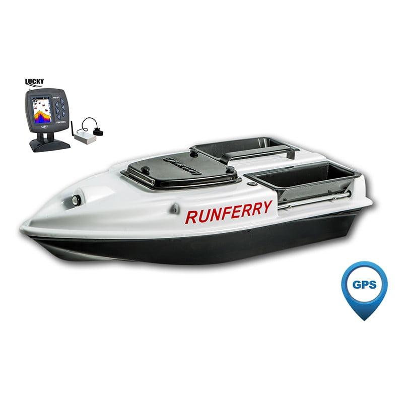 Купить кораблик Camarad 3 белый с GPS-автопилотом и эхолотом Lucky 918