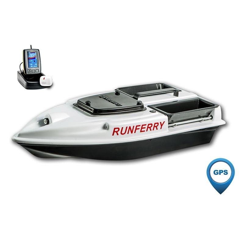 Купить кораблик Camarad 3 белый с GPS-автопилотом и эхолотом Toslon TF500