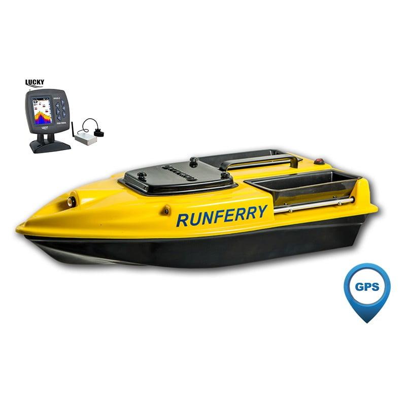 Купить кораблик Camarad 3 желтый с GPS-автопилотом и эхолотом Lucky 918