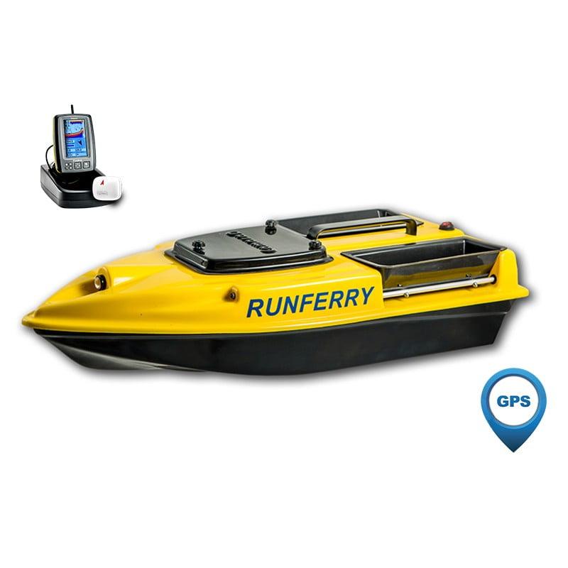 Купить кораблик Camarad 3 желтый с GPS-автопилотом и эхолотом Toslon TF500