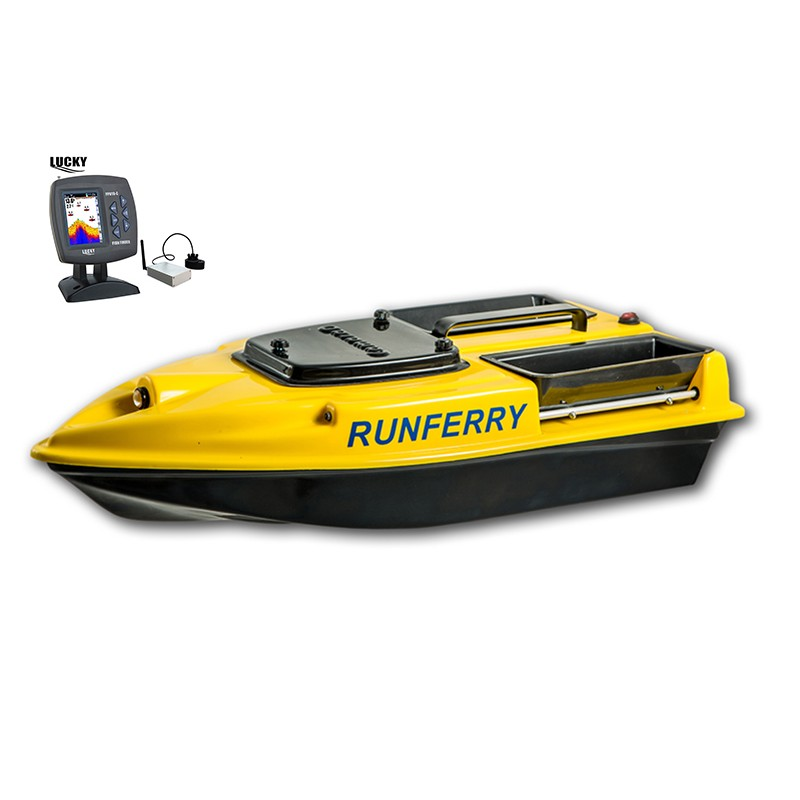 Купить прикормочный кораблик Камарад (Camarad) 3 желтый с эхолотом Lucky 918